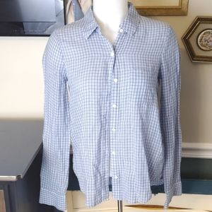 Soft joie extra extra small plaid button-up top